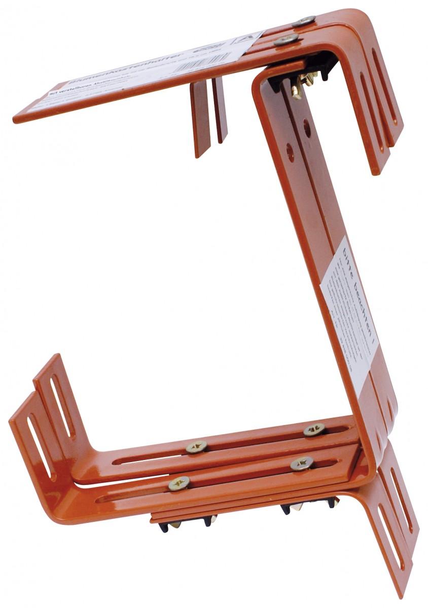 halter schwere ausf hrung f r balkonkasten gartencenter pflanzgef e balkonkasten. Black Bedroom Furniture Sets. Home Design Ideas