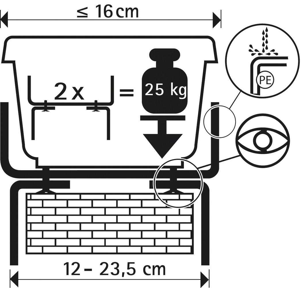 2x Balkonkastenhalter braun Blumenkastenhalter Balkonkastenhalterung Halterung