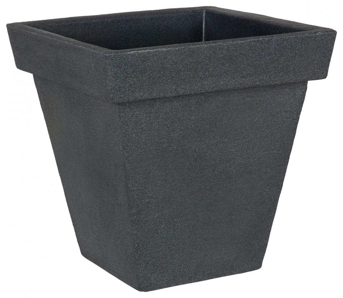 pflanzk bel prado quadratisch aus kunststoff in anthrazit. Black Bedroom Furniture Sets. Home Design Ideas