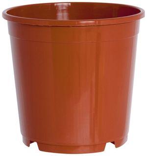 10er Set Pflanzkübel CONTAINERTOPF 17cm rund aus Kunststoff Sparpaket