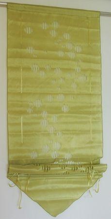 Raffrollo Kleinfenster Gardine in grün mit Stanzmuster 60 x 160 cm – Bild 1