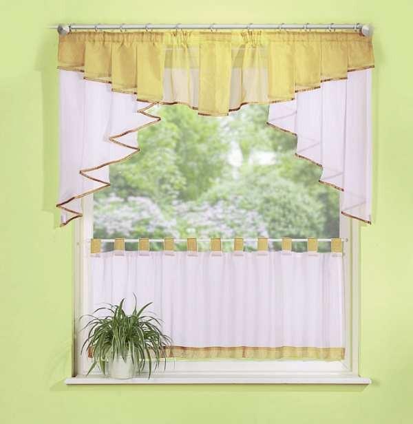 scheibengardinen set 2 teilig 150 cm breit in verschiedenen farben sch ner wohnen gardinen. Black Bedroom Furniture Sets. Home Design Ideas