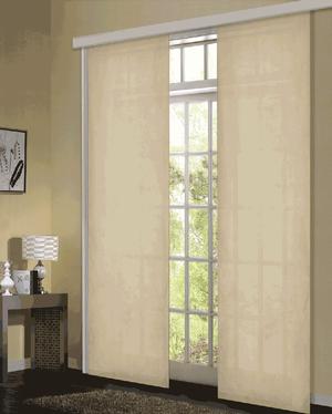 Schiebepanel Flächen Vorhang aus Microsatin mit Panelwagen – Bild 12