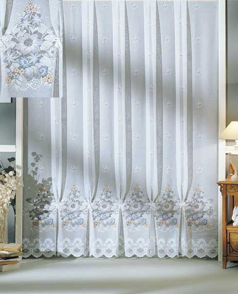 jacquard store gardine mit blumen motiv airbrush sch ner wohnen gardinen stoffe store s stores. Black Bedroom Furniture Sets. Home Design Ideas