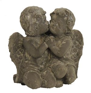 Engelfigur aus Poyresin Engelpaar Engel für innen und außen