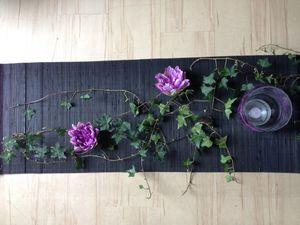 3er Set künstliche Lotusblüten in flieder und pink – Bild 3