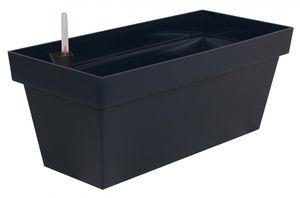 Elegantes Pflanzgefäß Cube Case aus Kunststoff mit Bewässerungseinsatz – Bild 1