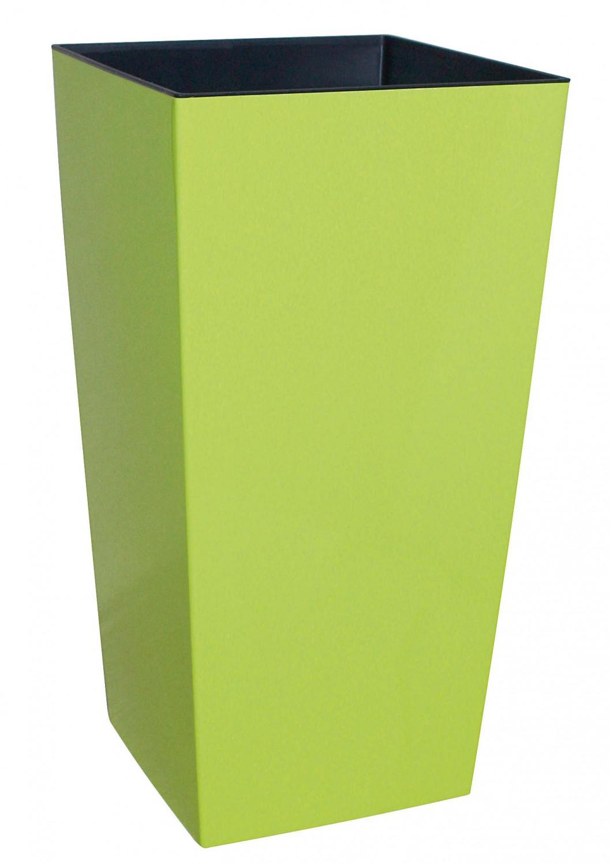 elegantes pflanzgefäß urbi square hochglanz mit bewässerungseinsatz