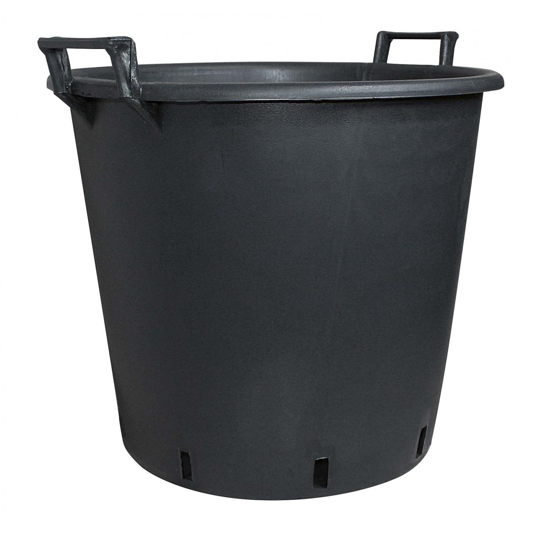Pflanzcontainer aus Kunststoff mit Griff Schwarz Containertopf