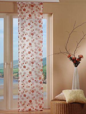 Schiebevorhang mit Zubehör 57 cm x 245 cm in Weiß mit Blumenmuster