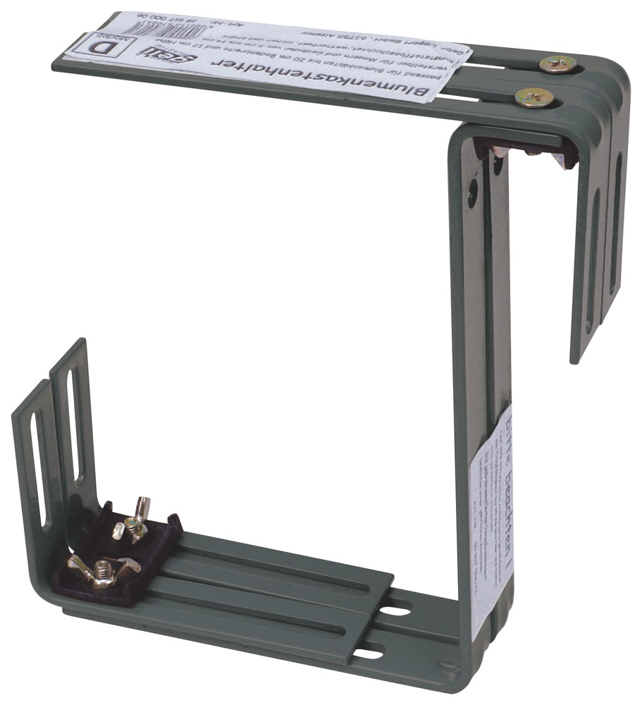 halter f r standard balkonkasten zweifach verstellbar. Black Bedroom Furniture Sets. Home Design Ideas