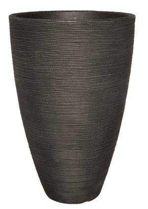 Pflanzkübel Vasenform Rillentopf rund aus Kunststoff – Bild 2