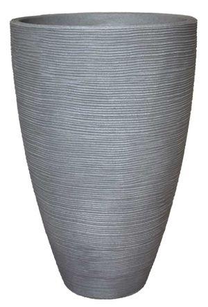 Pflanzkübel Vasenform Rillentopf rund aus Kunststoff – Bild 1