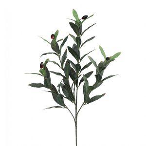 Olivenzweig Kunstpflanze 50 cm mit Früchten