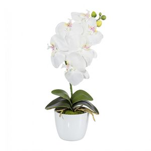 Orchidee Phalaenopsis Kunstpflanze 40 cm in weiß