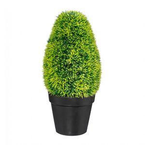 Graskonus Kunstpflanze 33 cm im schwarzen Kunststofftopf