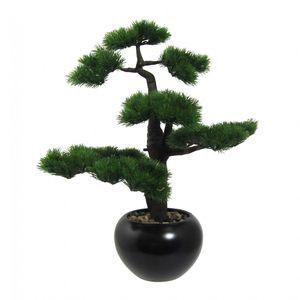 "Bonsai ""Kiefer"" Kunstpflanze 60 cm im Keramiktopf"