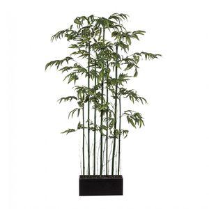 "Bambusraumteiler Paravent ""Mix"" Kunstpflanze 150 cm mit Naturstamm"