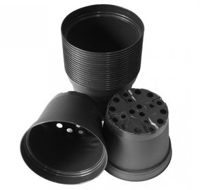 20 Stk. Pflanztopf aus Kunststoff Gärtnertopf Innentopf schwarz – Bild 1