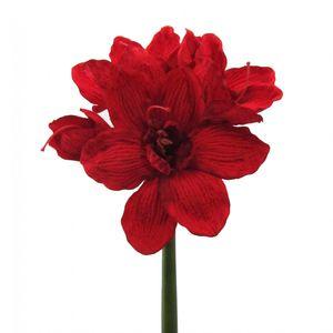 Künstliche Amaryllis in rot Kunstpflanze 65 cm