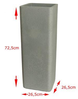 Pflanzsäule quadratisch Pflanzkübel aus Kunststoff in Zementoptik – Bild 5