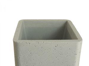 Pflanzsäule quadratisch Pflanzkübel aus Kunststoff in Zementoptik – Bild 7