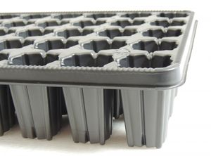 5 Stk. Anzuchtplatte 3040/35 Pikierplatte Multitopfplatte Topfpalette Kunststoff – Bild 1