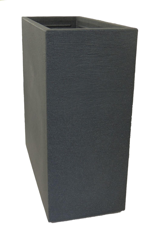 raumteiler pflanzk bel kubus aus kunststoff anthrazit gartencenter pflanzgef e terraoptik. Black Bedroom Furniture Sets. Home Design Ideas
