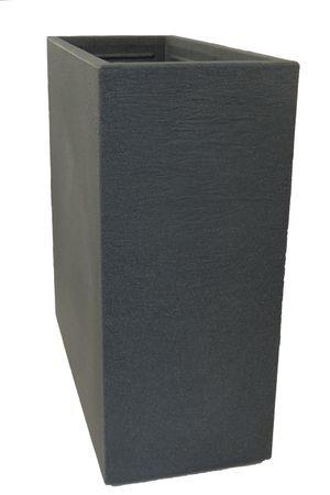 Raumteiler Pflanzkübel Kubus aus Kunststoff anthrazit  – Bild 2