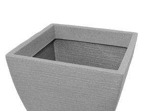 Pflanzkübel Rillentopf quadratisch aus Kunststoff – Bild 3