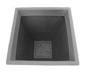Pflanzkübel Rillentopf quadratisch aus Kunststoff – Bild 4
