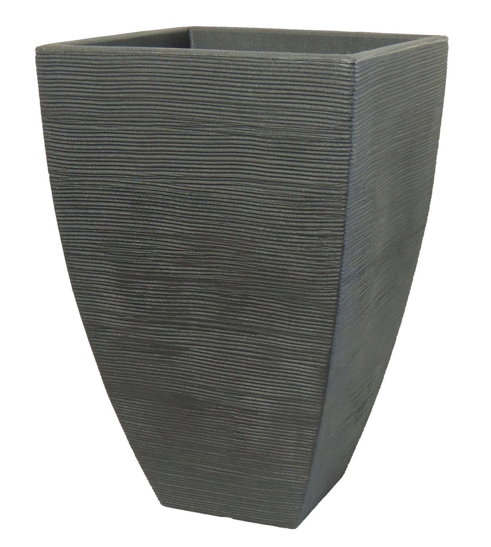 pflanzk bel rillentopf quadratisch hoch aus kunststoff blumentopf pflanztopf ebay. Black Bedroom Furniture Sets. Home Design Ideas