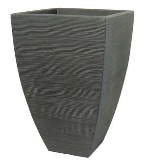 Pflanzkübel Rillentopf quadratisch hoch aus Kunststoff – Bild 2