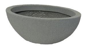 Pflanzschale Stone oval aus Kunststoff Steinoptik   – Bild 4