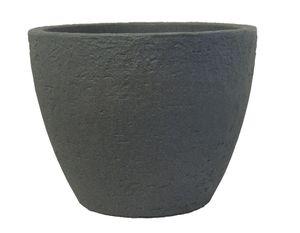 Pflanzkübel Stone rund aus Kunststoff Steinoptik   – Bild 2
