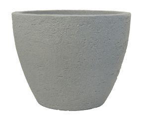 Pflanzkübel Stone rund aus Kunststoff Steinoptik   – Bild 6