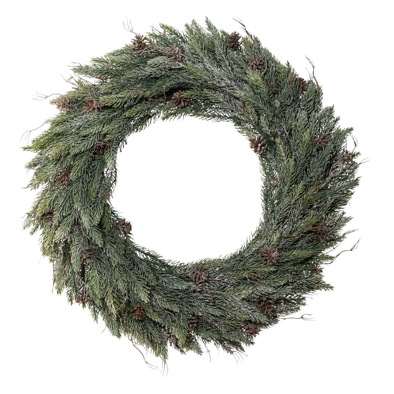 k nstlicher tannenkranz zur weihnachtlichen dekoration. Black Bedroom Furniture Sets. Home Design Ideas