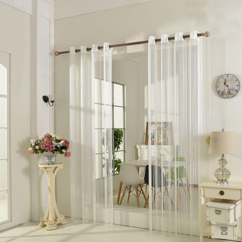 fadenstore fadengardine vorhang mit sen raumteiler 140 x 250 cm sch ner wohnen gardinen stoffe. Black Bedroom Furniture Sets. Home Design Ideas