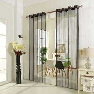 Fadenstore Fadengardine Vorhang mit Ösen Raumteiler 140 x 250 cm – Bild 2