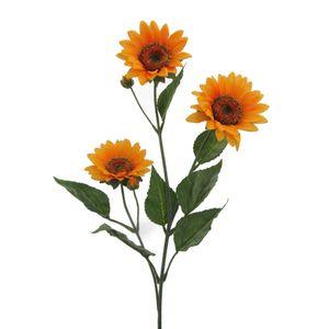 Künstliche Sonnenblume mit 3 Blüten 85 cm