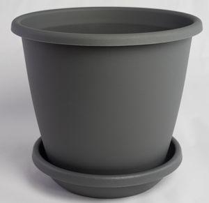 Pflanzkübel NEVADA mit passendem Untersetzer in versch. Farben und Größen – Bild 3
