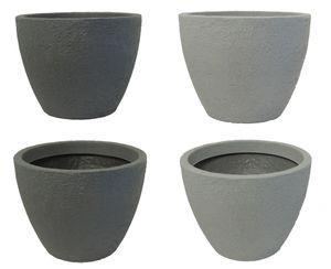 Pflanzkübel Stone 80 cm Durchmesser aus Kunststoff Steinoptik   – Bild 1