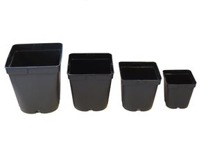 10er Set Blumentopf, Gärtnertopf,  Containertopf quadratisch aus Kunststoff – Bild 1