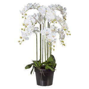 Künstliche weiße Phalaenopsis im Topf 110 cm