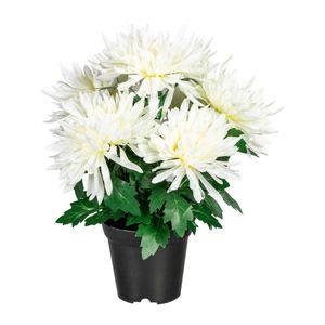 Künstliche Chrysantheme im Kunststofftopf ca. 32 cm in versch. Farben – Bild 2