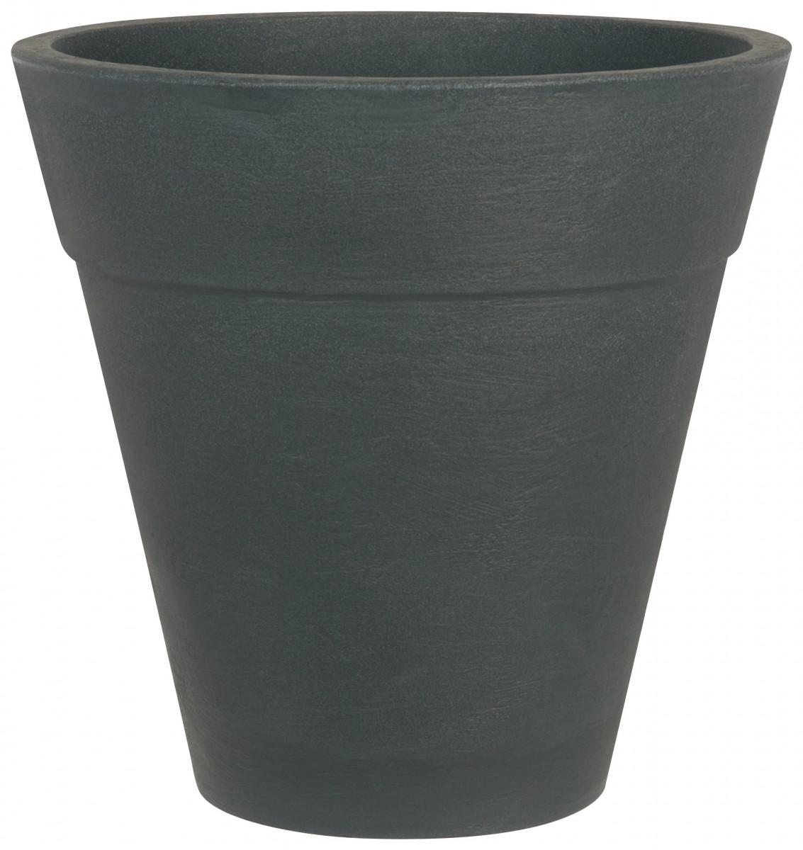 pflanzk bel turin 50 cm rund aus stabilem kunststoff gartencenter pflanzgef e terraoptik. Black Bedroom Furniture Sets. Home Design Ideas