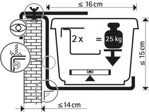 Halter für Standard Balkonkasten Blumenkastenhalter – Bild 6