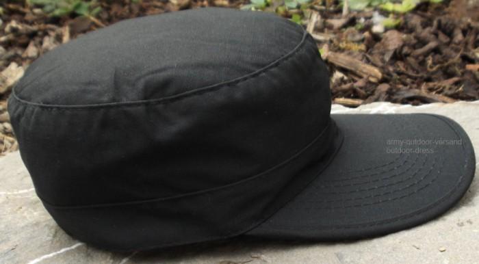 BDU Cap Schirmmütze RipStop schwarz S-XL Feldmütze Armycap Fullcap großer Schirm
