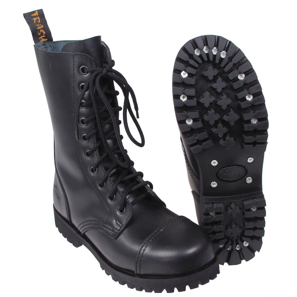Original Pure Trash 10 Loch Springerstiefel Stiefel Boots schwarz