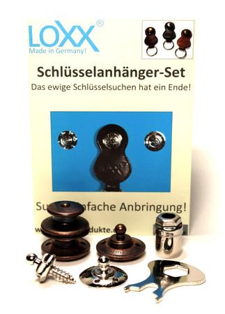 Loxx Schlüsselanhänger Set - großer Kopf Altkupfer – Bild 1